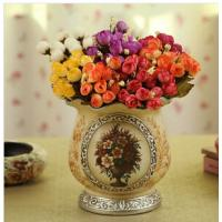 Buy cheap pottery vase with flower painting from wholesalers