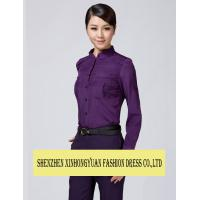 Buy cheap Breathable White Jacket Purple Shirt Trousers Flight Attendant Outfits from wholesalers