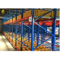Buy cheap Warehouse Push Back Racks , Pallet Flow Racking System With RAL Color from wholesalers
