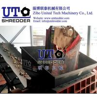 China automatic furniture shredder/ waste bed board shredder, double shaft shredder, wood crusher, solid waste recycling on sale