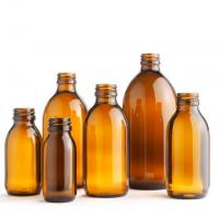 Buy cheap 30ml 60ml 100ml 125ml 150ml 200ml Oral liquid Cough Syrup Glass Amber Round Bottle from wholesalers