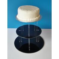 Buy cheap 3-Tier Acrylic Bakery Display Case , 5mm thick weddingcake Display Stand Rack from wholesalers