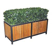Buy cheap Commercial Metal Home Furniture Rectangular Steel Garden Planter Boxes For Public from wholesalers