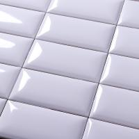 Buy cheap Non Slip Modern Kitchen Wall Tiles White Glossy Ceramic Mosaic Subway Tile product