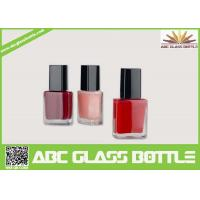 Buy cheap High quality 15ml clear empty elegant square nail polish oil glass bottle with cap and brush wholesale product