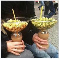 Buy cheap Popcorn Bowl Disposable Smoothie Cups For Plastic Bottle 500ml from wholesalers
