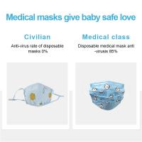 Buy cheap Anti Dust Kids Medical Face Mask  Cute Cartoon Printing Customized Design from wholesalers
