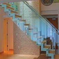 Buy cheap Best selling stair railing with side handrail standoff glass balustrade from wholesalers