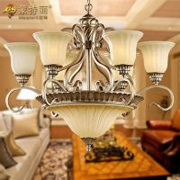 Buy cheap 9 Light Living Room Decorative Modern Chandelier Lighting with Silver / Gold Painting from wholesalers