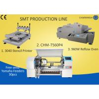 Buy cheap 3040 Stencil Printer + 4 Heads 60 Feeders Pick and place Machine + T960W Reflow Oven , SMT Batch from wholesalers