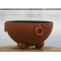 Buy cheap Outdoor Ancient Design Rusted Steel Fire Pit , Copper Fire Pit Bowl For Yard product