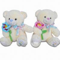 Buy cheap Bear Plush Toys with 100% PP Cotton Filling, Various Colors and Designs are Available product