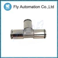 Buy cheap Nickel Plated Brass Pneumatic Tube Fittings Nbr O Ring Silvery Tee Connectors from wholesalers