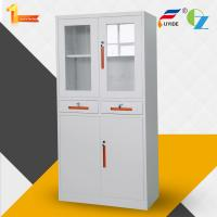 Buy cheap Metal storage cupboard FYD-W013:H1850XW900XD400mm, KD,glass and steel swing door, KD structure from wholesalers