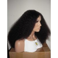 China Wholesale 100% Virgin Human Hair Light Yaki Bleached Knots Full Lace Wig on sale