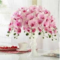 Buy cheap artificial fake real touch high simulation home decoration silk phalaenopsis orchid from wholesalers