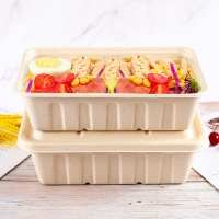 Buy cheap bagasse SGS  Eco Friendly Microwavable Food Containers from wholesalers