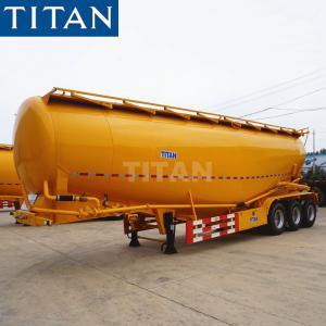 China TITAN 33/35cbm pneumatic sand bulk cement silobas tanker trailer on sale