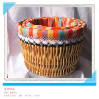 Buy cheap Hot sale round White wicker laundry basket/Laundry basket with toy/Wicker storage basket w from wholesalers