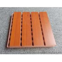 Buy cheap Custom Solid Wooden Grooved Acoustic Panel Sound Asorption Board For Music Room product