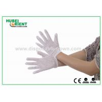 Buy cheap White Nylon ESD Safe Gloves Disposable Hand Gloves with Conductive Ribbon from wholesalers
