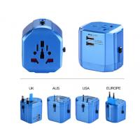 Buy cheap PC Plastic Travel Plug Adapter , Universal Travel Converter 6A 100-240VAC Durable from wholesalers