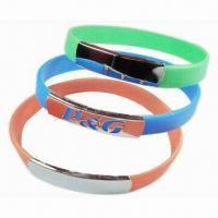 Buy cheap Fashionable Silicone Bracelet/Bangle, Ideal for Promotional Gifts, Eco-friendly, Embossed/Debossed from wholesalers