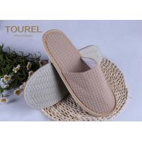 Buy cheap Grid Colored Disposable Hotel Slippers Velour Material Closed Toe Slippers from wholesalers