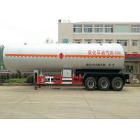 Buy cheap 50 m3 Tank Semi Trailer For Liquid Petrol Gas , Butane , Propane Transport from wholesalers