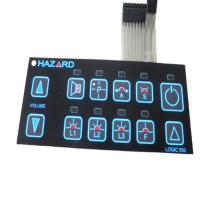 China Custom Tactile Membrane Keyboards Waterproof Membrane Switches Graphic Overlays on sale