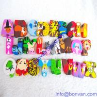 Buy cheap extruded animal eraser in letter shape,children gift eraser from China supplier from wholesalers