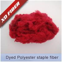 Buy cheap 1.5D*38MM RED recycled polyester staple fiber  for spinning ,nonwoven. from wholesalers
