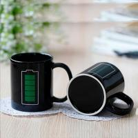 Buy cheap OEM logo thermometer color changing ceramic magic mug price wholesale from wholesalers
