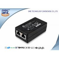 Buy cheap 15 Volt POE Power Adapter 0.8a , Black AC DC POE Ethernet Adapter product