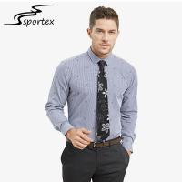 Buy cheap Embroidery Fabric Mens Fitted Shirts Casual , Mens Casual Cotton Shirts M - 2XL Sizes from wholesalers