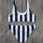 Wholesale and Retail 2017 Women Sexy Striped Bandeau Bikini Set