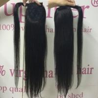 Buy cheap Straight Wrap Around Hair Extension Ponytail Real Hair Natural Looking Glossy from wholesalers