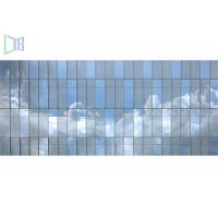 Unitized Glass Curtain Walls : Innovative design aluminum curtain wall visible unitized