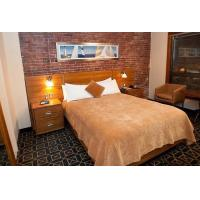 Buy cheap Budget Hotel Bedroom Furniture Laminated Cherry wood Double Bed with Headboard from wholesalers