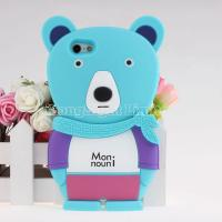 Buy cheap faashion Silicone Gel Case for iphone 4s/5g with bear desgin from wholesalers