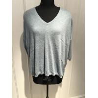 Buy cheap 3/4 Sleeve Oversize Cashmere V Neck Womens Grey Cashmere Sweater With Bead Decoration from wholesalers