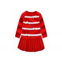 Buy cheap Long Winter Baby Girl Sweater Dress , Toddler Red Sweater O Neck Collar from wholesalers