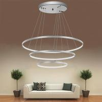 Buy cheap Modern White Led 3 Rings Ceiling Lamp Adjustable Bright Pendant Light Electroplate Finish from wholesalers