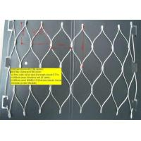 Buy cheap Flexible X  Tend Cable Stainless Steel Rope White Wire Mesh Fencing  For Balustrade from wholesalers