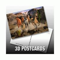 Buy cheap PLASTICLENTICULAR custom 3d printed business photography cards PP PET lenticular postcards from wholesalers