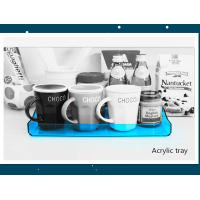Buy cheap Transparent Blue Acrylic Service Tray 230mm X 325mm X 30mm product