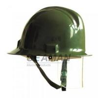 Buy cheap Custom Marine Fire Fighting Helmet / Firefighter Rescue Helmet With Face Mask from wholesalers