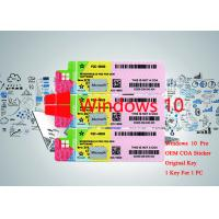Buy cheap 64bit / 32bit OS 100% Authentic Windows 10 Pro OEM Serial Sticker Online Activate from wholesalers