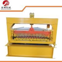 Buy cheap Easy Operate Corrugated Roll Forming Machine / Corrugated Roofing Sheet Making Machine from wholesalers