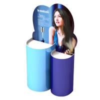 Buy cheap Blue Cardboard Perfume Product Display Stand Dembossing / Counter Top Display Racks from wholesalers